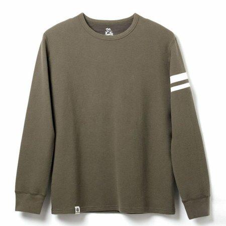 Momotaro Jeans Momotaro GTB Longsleeve Thermal t-shirt - Olive