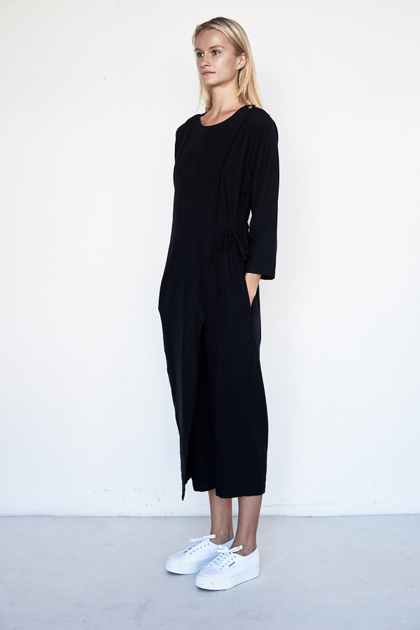 Black Crane Cotton/Wool Folding Jumper