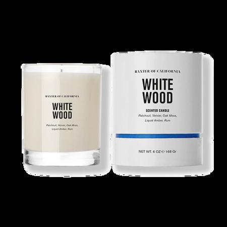 Baxter of California White Wood Candle 6oz