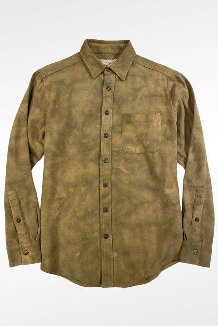 One World Brothers Acid Long Sleeve Pocket Shirt - Light Brown