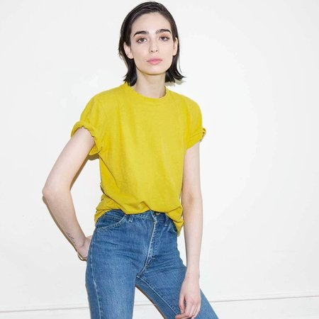 Jungmaven Marigold 5 Oz Tee - Goldenrod Yellow
