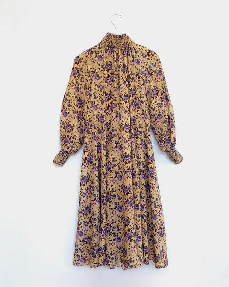 No.6 Reid Dress - Camel Bouquet