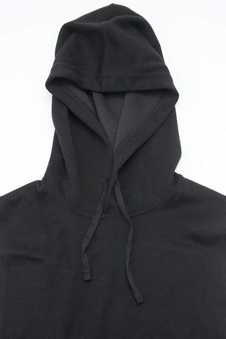 Engineered Garments Hooded Interliner in Tri Blend Jersey Knit - Black