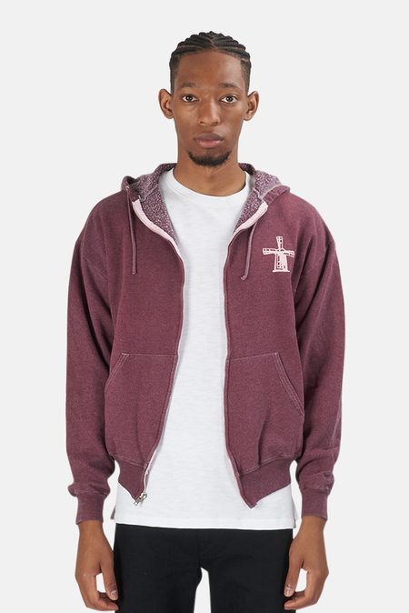 Blue&Cream Been Here Forever Hoodie Sweater - Maroon