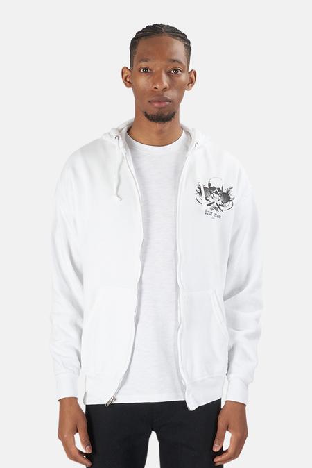 Blue&Cream Skull Hoodie Sweater - White/Black