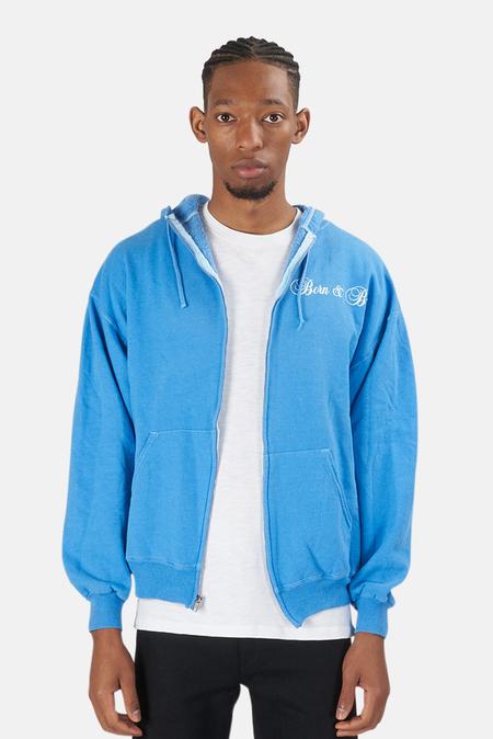 Blue&Cream Born & Bred Hoodie Sweater - Sky Blue
