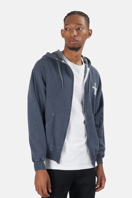 Blue&Cream Been Here Forever Hoodie Sweater - Navy
