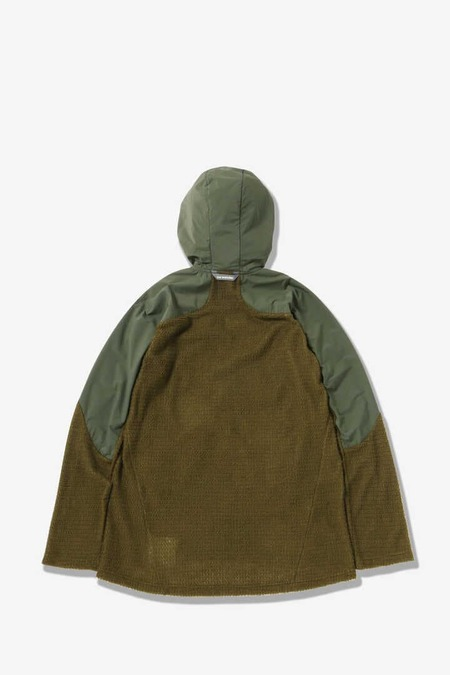 and wander Alpha Direct Hoodie - Khaki