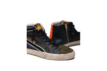 Golden Goose Slide Leather Sneaker - Camo/Orange
