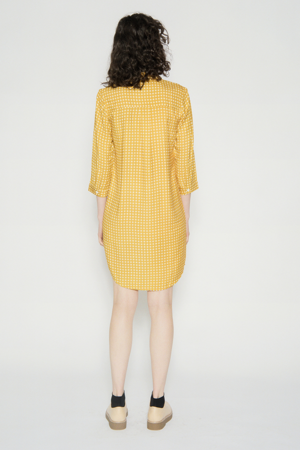 WRAY Painter Dress Yellow Dot