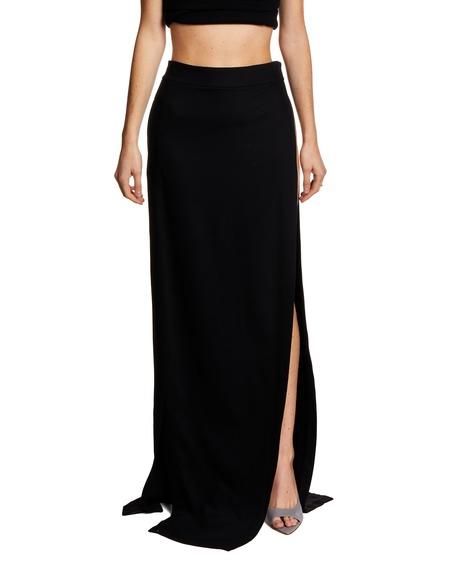 Ann Demeulemeester Long Slit Skirt - Black