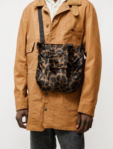 Engineered Garments Shoulder Pouch - Leopard/Dark Brown