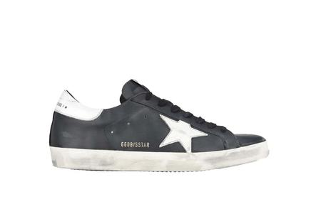 Golden Goose Superstar Leather  Sneakers - Black/White Star