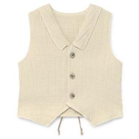 Kids Little Creative Factory Tanka Vest - Cream