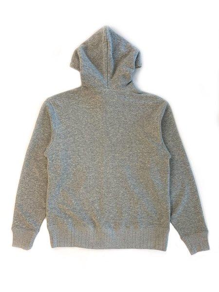 Velva Sheen Made In Japan Loopwheeler Zip Hoodie - Heather Grey