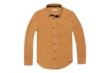 Outerknown Lost Coast Moleskin Shirt - Curry