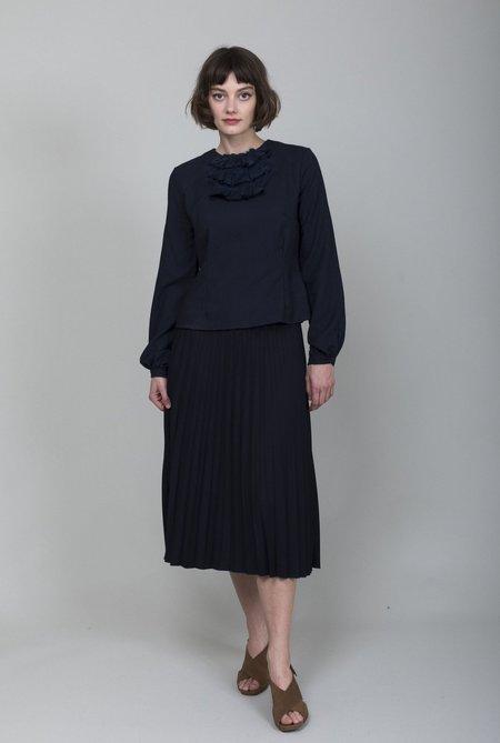 Hazel Brown Collection Pleat Skirt - Navy