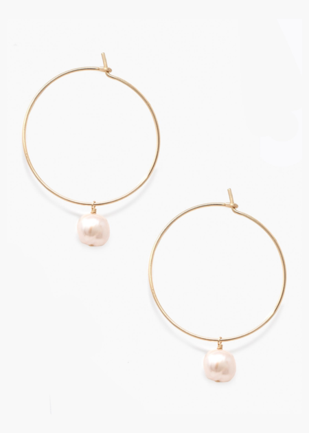 ABLE Pearl adornment hoops - 14K gold filled