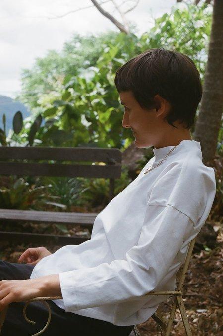 Mimi Holvast Long Sleeve Big Tee - Off White