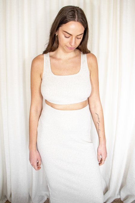 GOLDWATERS Nicole Rib Knit Midi Skirt