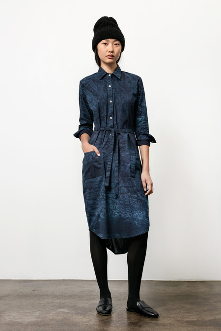 Osei-Duro Causa Dress in Natural Indigo