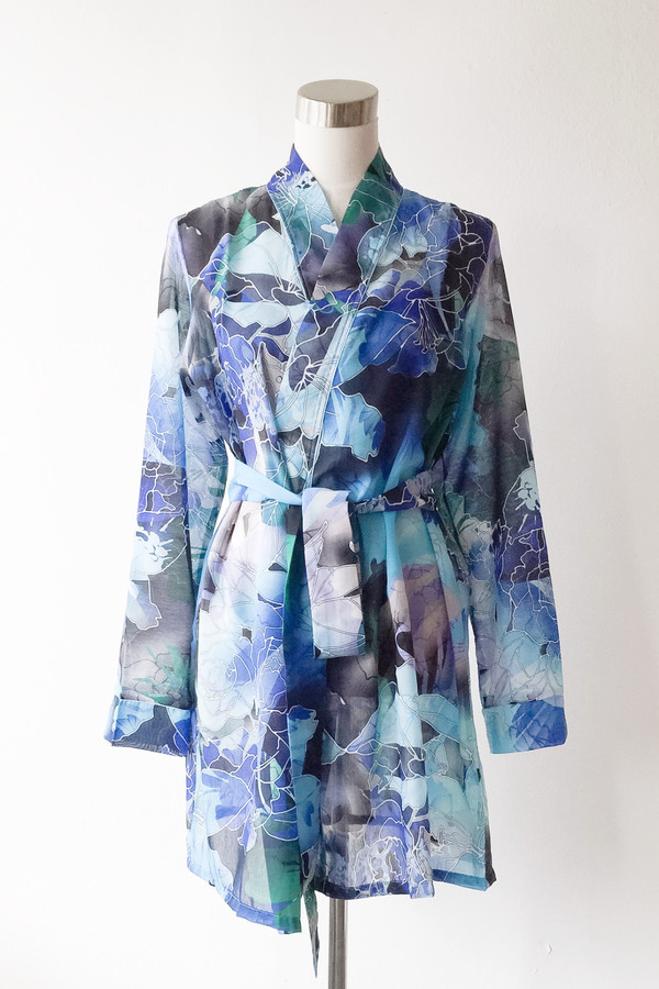 "Salua Lingerie Printed Robe 33"""