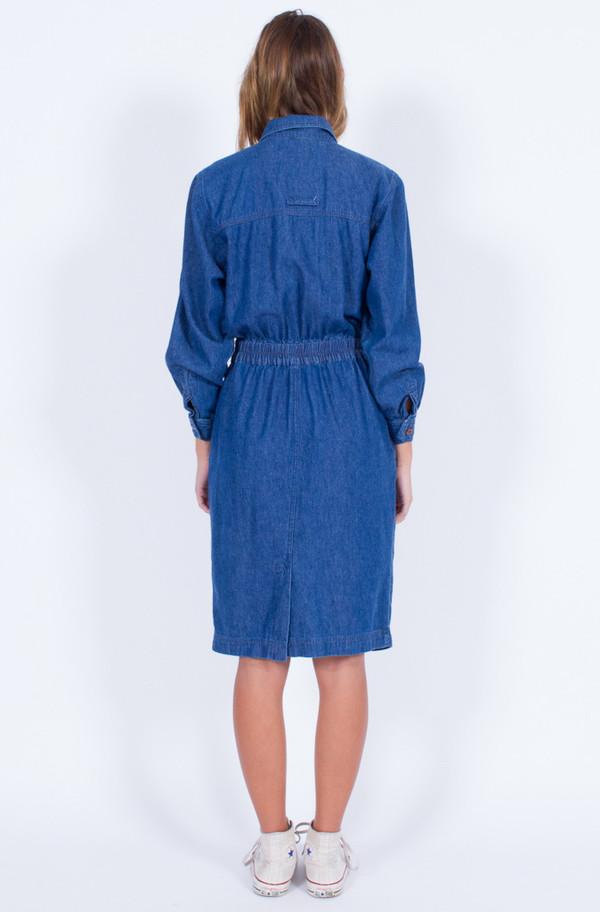 Yo Vintage! DENIM SHIRT DRESS (SMALL)
