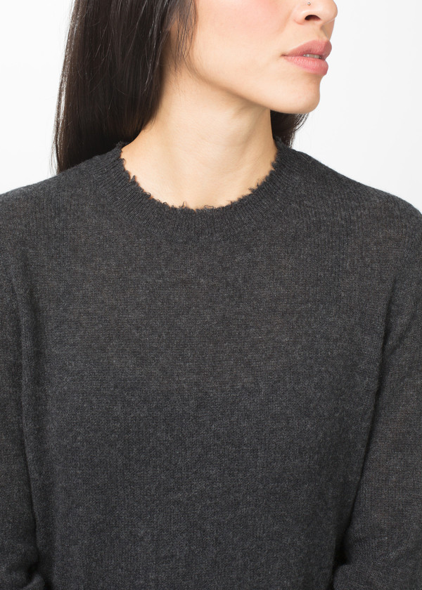 R13 Long Distressed Cashmere Sweater