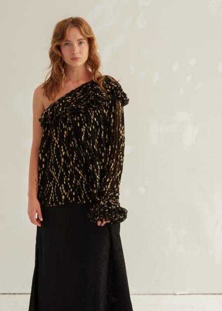 Laurence Bras Princess blouse - Black/Gold