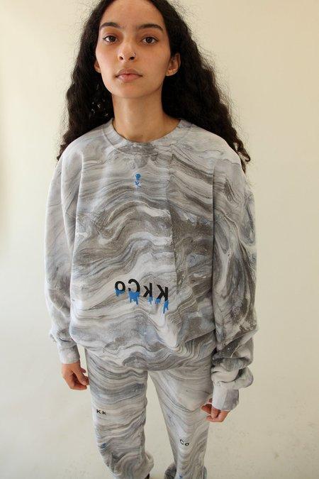 Kk Co Studio Drip Crewneck Sweatshirt - Marble Dye