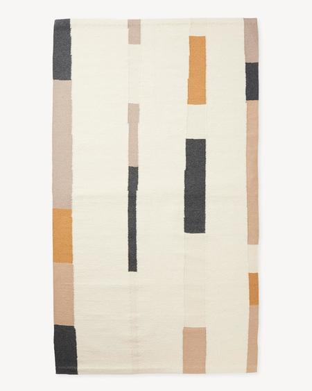 Minna Goods Handwoven Rug - Oat Lines