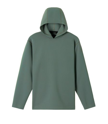 Wings+Horns Ponti Structured Hoodie Jersey - Sage