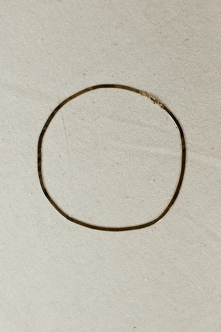 MIANSAI HERRINGBONE CHOKER - POLISHED GOLD