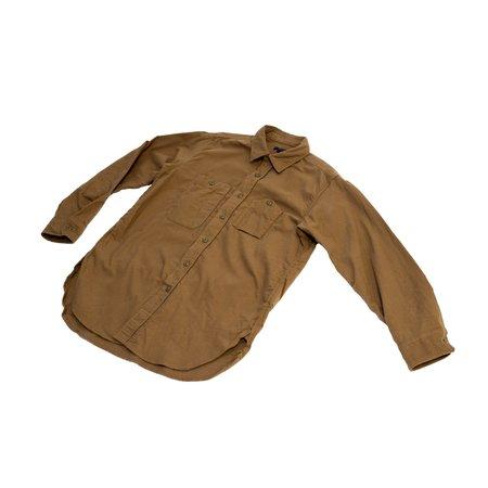 Engineered Garments Solid Cotton Flannel Work Shirt - Khaki