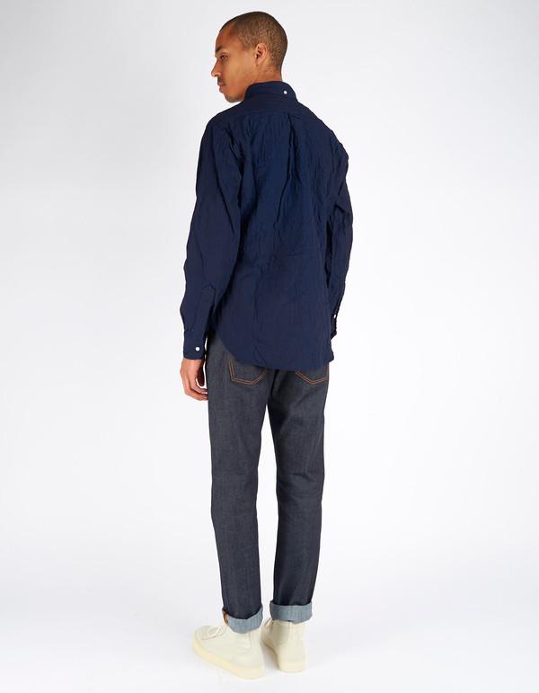 Gitman Vintage Button Down Quilted Overshirt Indigo