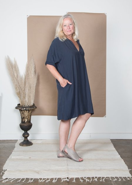SBJ Austin Olamie Cotton Tencel Dress - Navy