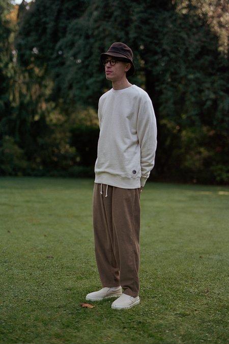 Universal Works Classic Crew Sweatshirt - Ecru Dry Handle Loopback