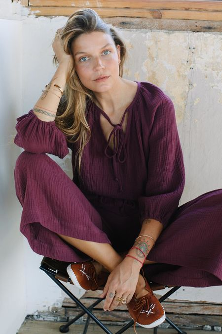 Rachel Pally Gauze Isobel Pant - Port