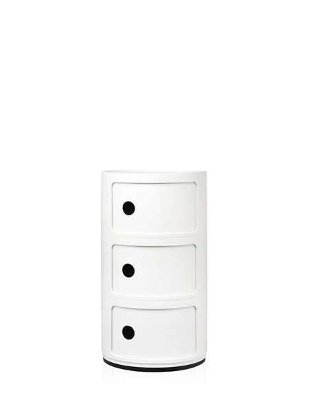 Kartell 3 Drawer Componibili White