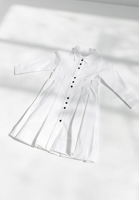 KIDS LITTLE CREATIVE FACTORY ODE DRESS - WHITE