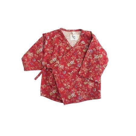 Kids nico nico Quinn Wrap Top - Red Floral