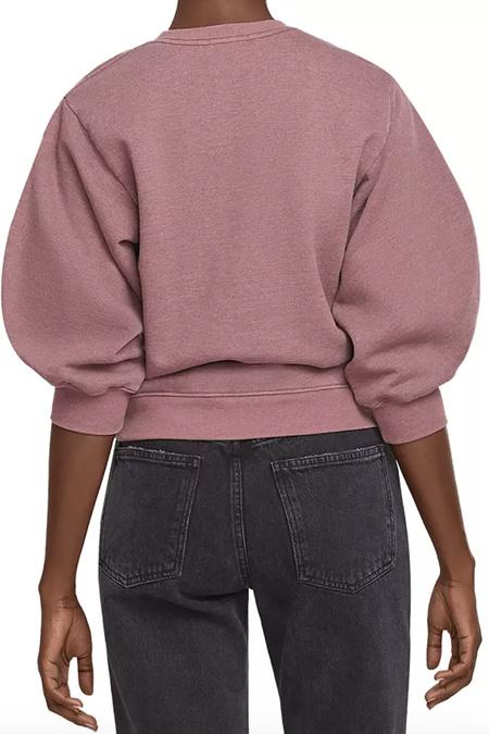 Agolde Thora Sweatshirt - Rhubarb