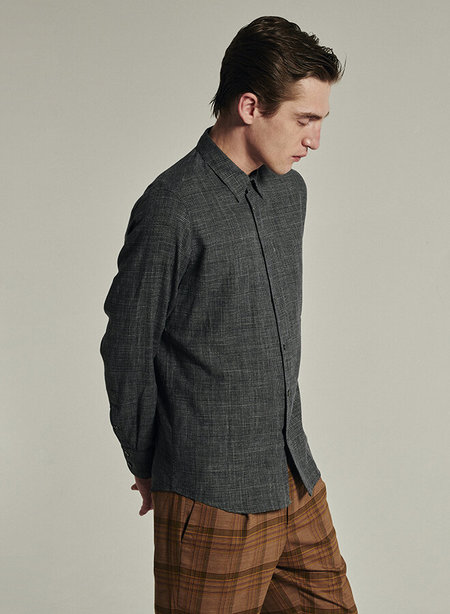 delikatessen Feel Good Prince de Galles Tonal Check Shirt - grey/anthracite