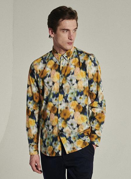 delikatessen Feel Good Liberty Printed Cotton Shirt - Yellow