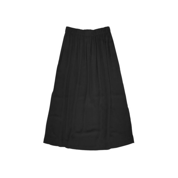 Ali Golden SILK MIDI SKIRT - BLACK