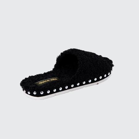 Dolce Vita Plush Slipper - Black