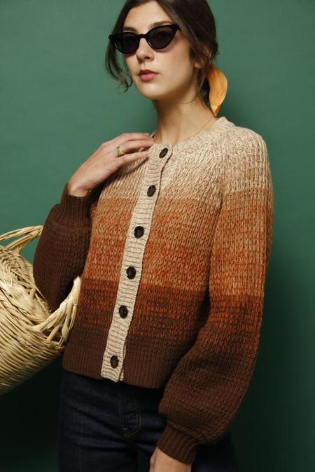 THE GREAT. DUSK CARDIGAN - MULTI