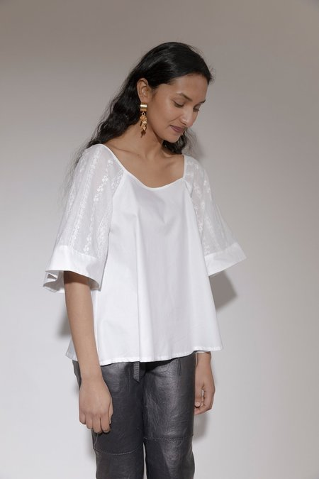 BEFORE MARCH Alex blouse - White