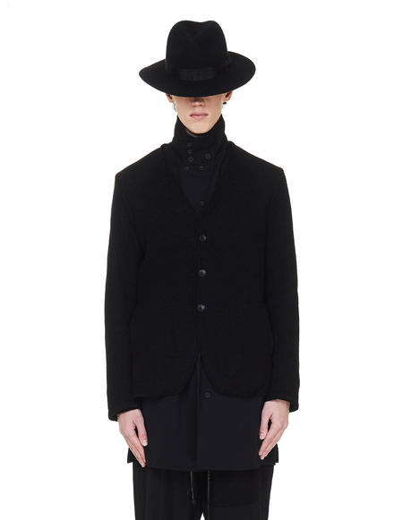 The Viridi-Anne Raw Hem jacket - Black