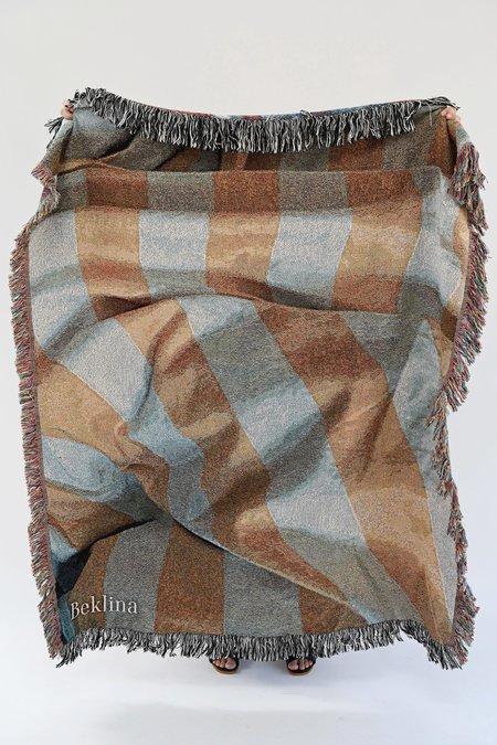 Beklina Throw Blanket Bedroom Stripes